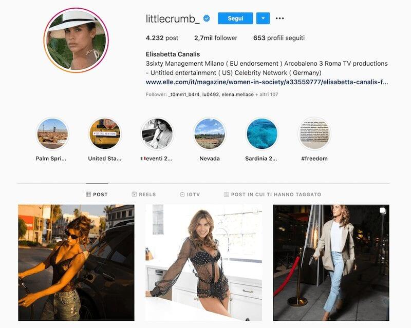Elisabetta Canalis, una bellezza su Instagram